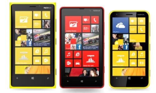 nokia lumia 920, 820 and 620