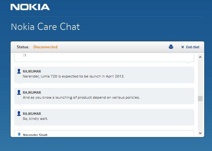 Nokia Chat Lumia 720