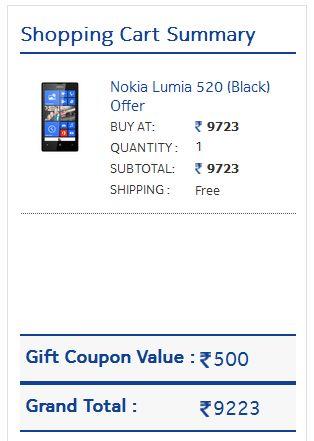Nokia Lumia 520 After Discount