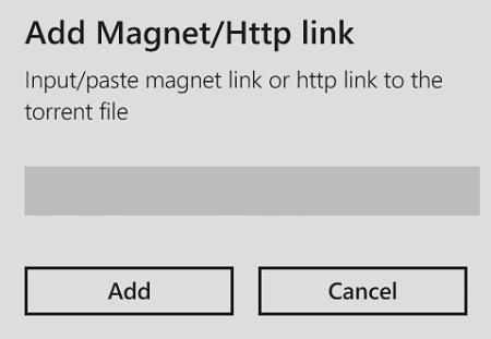 add magnet wptorrent windows phone