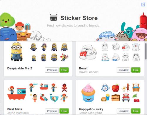 fb sticker store