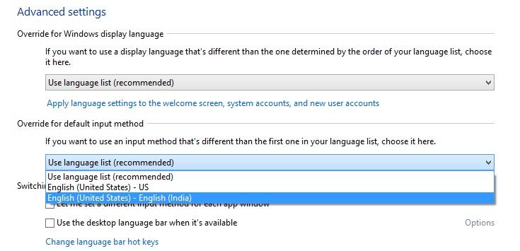 advanced language settings win8