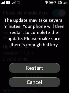 Asha 501 update installed