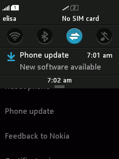 asha 501 update notification