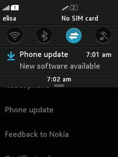 asha 501 update notification