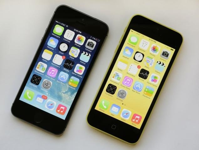 iPhone 5S black & iPhone 5C yellow