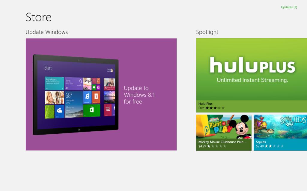 update tile 8-1 Windows store