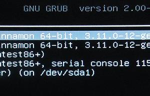 GRUB Screen DualBoot