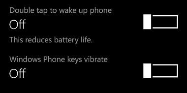 how to turn off vibration of capacitive keys in nokia lumia. Black Bedroom Furniture Sets. Home Design Ideas