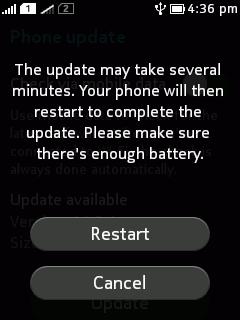 restart to update