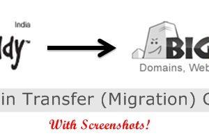 Godaddy to Bigrock Domain Transfer