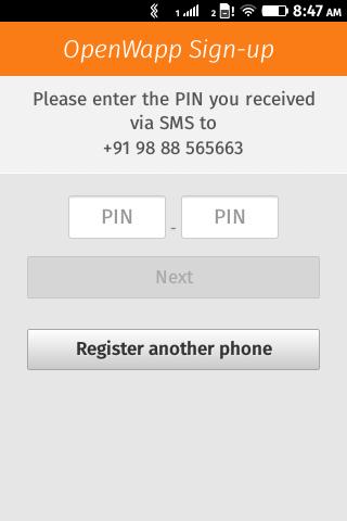OpenWapp register