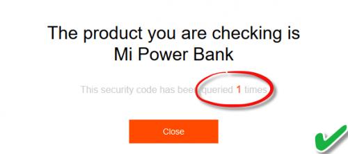 mi verify security code