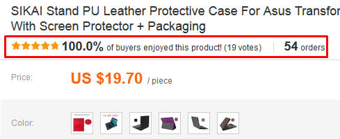 product feedback & orders aliexpress