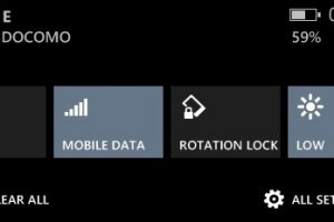 mobile data toggle action center wp
