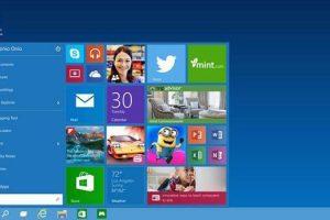 windows 10 start button and menu