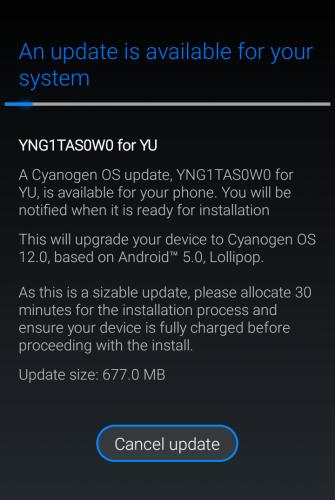 cyanogen 12 ota