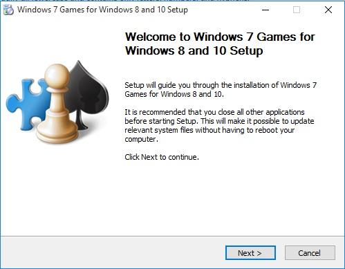 Windows 7 games for Windows 10 Setup