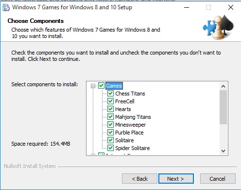 Setup Windows 7 games for Windows 10
