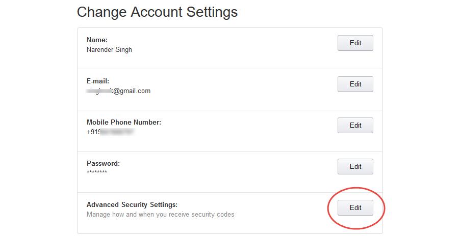 edit advanced security amazon mfa