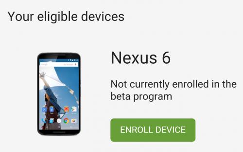 Adroid N- Enroll Device