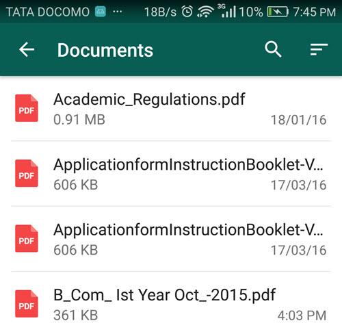 Attach PDF WhatsApp