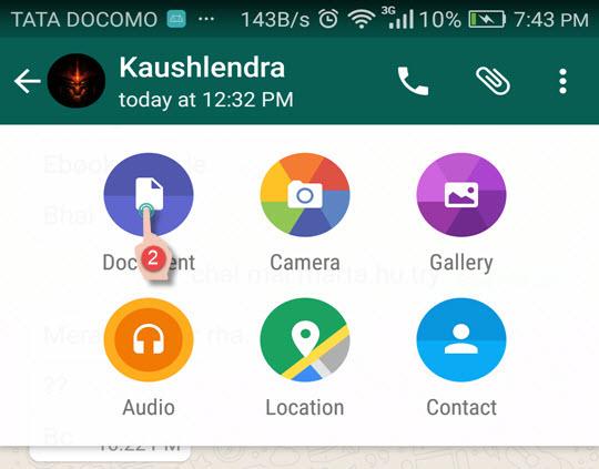 Add attachment WhatsApp