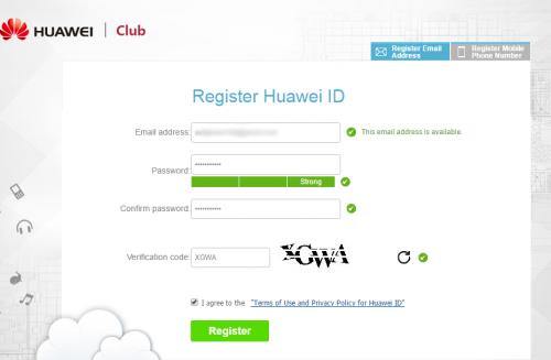 Register Huawei ID