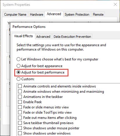Windows Visual Effects