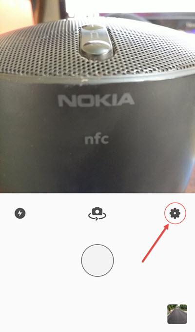 Prisma home settings icon