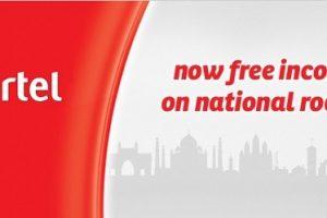 Airtel free roaming free incoming calls