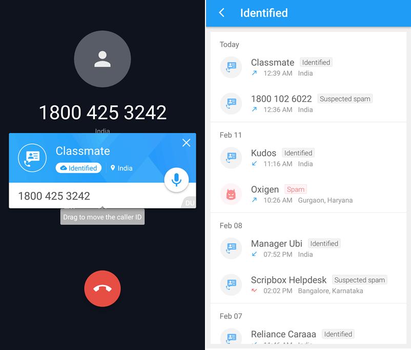 Du Caller ID & Identification