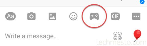 FB messenger game controller icon