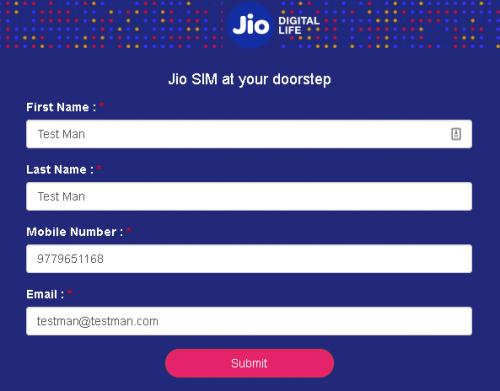 Order Jio SIM Online