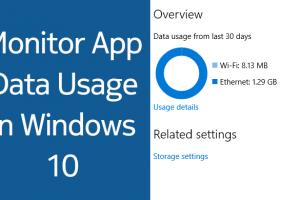 Find app data usage in Windows 10