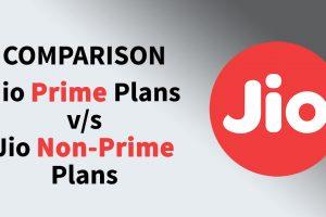jio prime vs non prime plan comparison