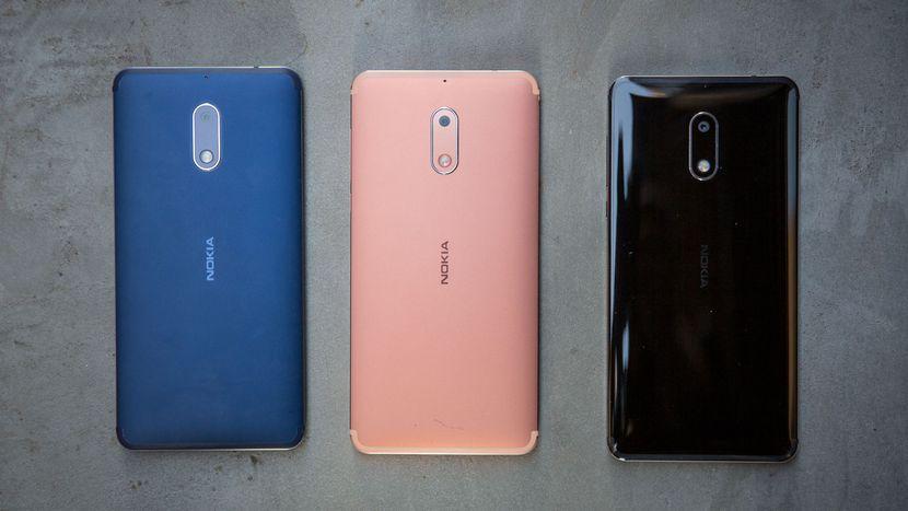 Nokia 6 in Blue, Copper and Arte Black