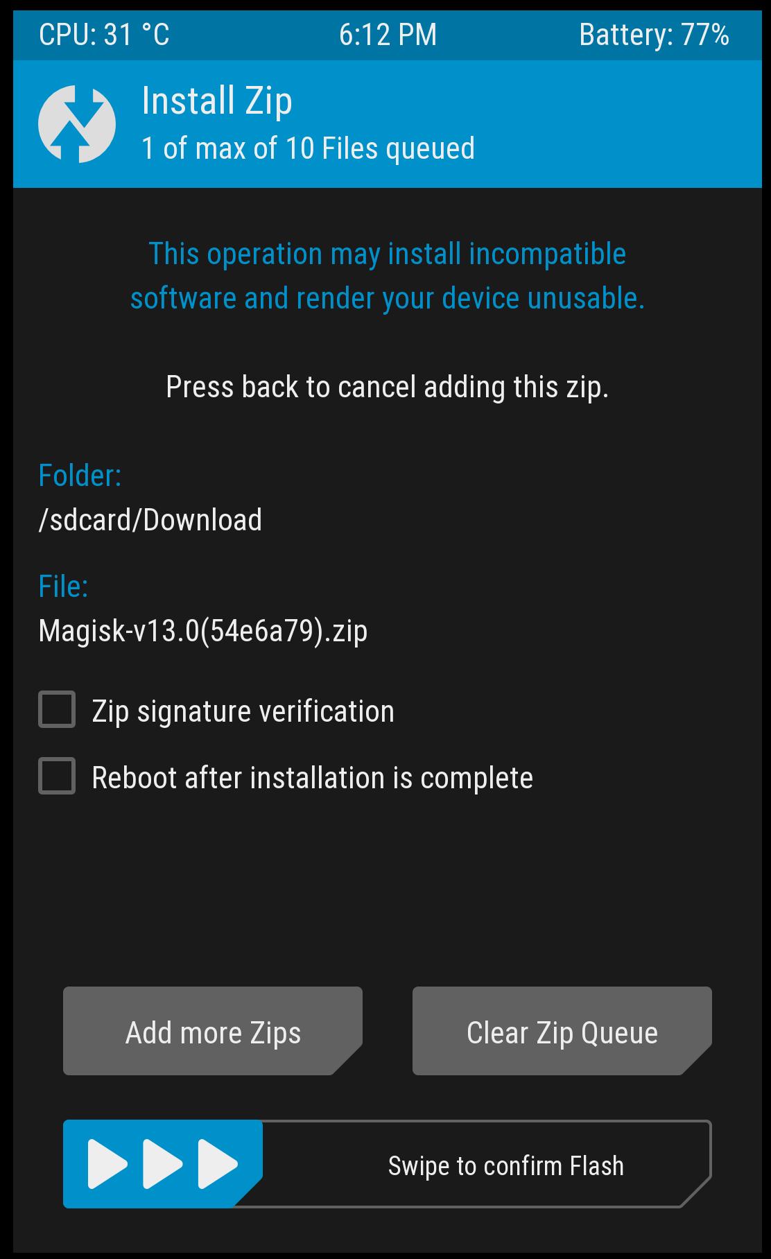 Installing Magisk on OnePlus 5