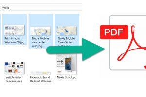 Image to PDF Windows 10