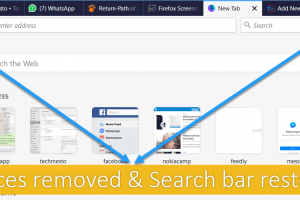 Firefox 57 Spaced Removed, Search Bar restored