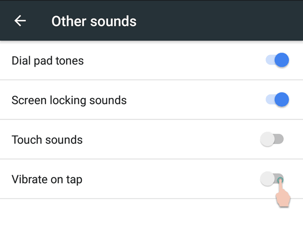 Other Sounds > Sound Settings in Nokia 6